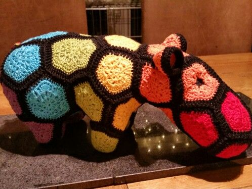 Crochet rainbow hippo - heidi bear pattern -  for my nieces baby due in February!