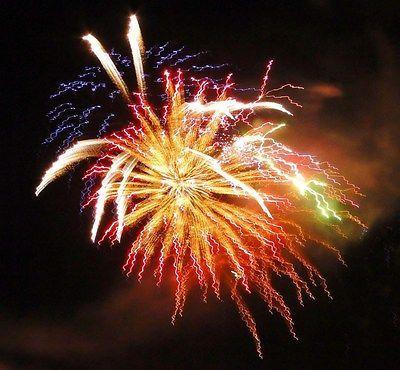 Photograph note card Fireworks by Dan Johnson blank inside