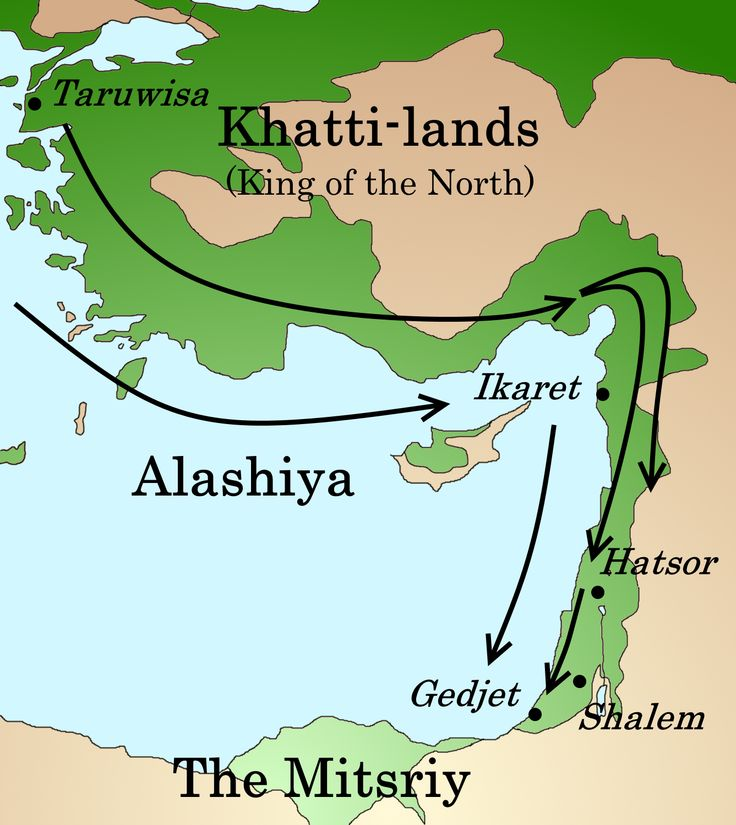 The advance of the Sea Peoples through the Levant