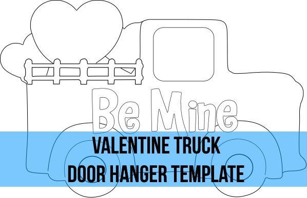 Valentine Truck Door Hanger Wreath Attachment Template Door Wreath Hanger Door Hanger Template Door Hangers