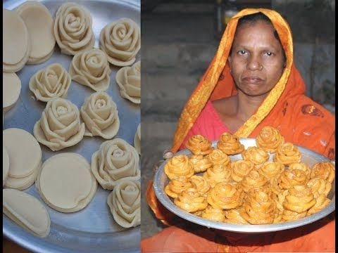 Delicious and sweet golap pitha recipe | Village food - YouTube