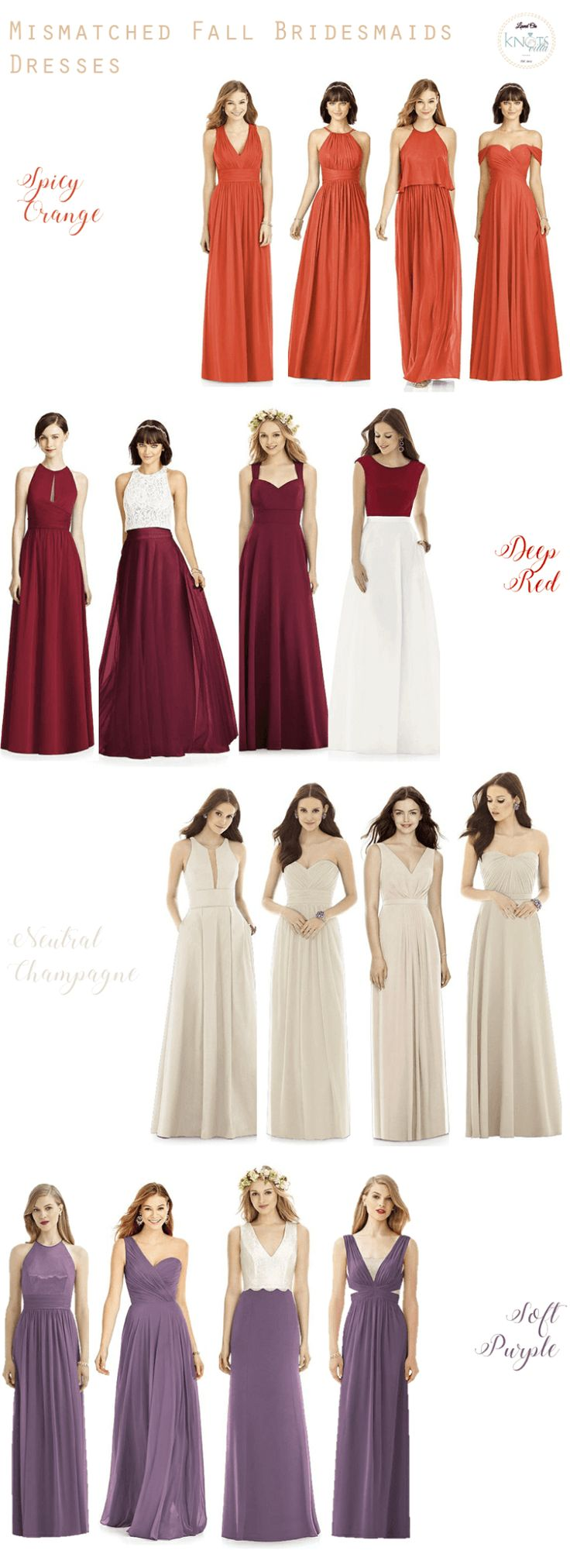 217 best fall wedding ideas images on pinterest fall wedding mismatched fall bridesmaids dresses ombrellifo Image collections