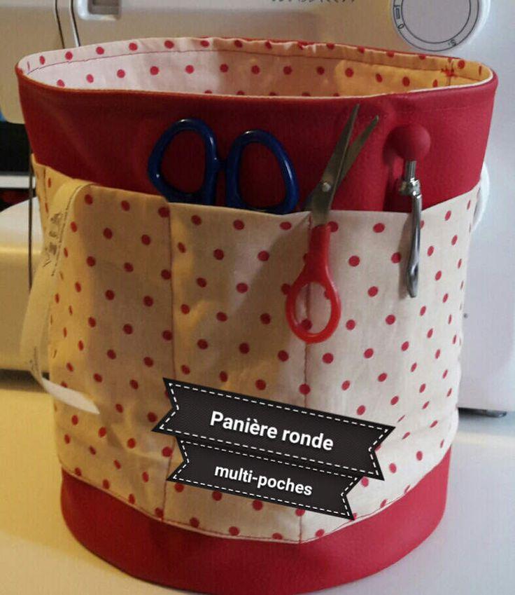 Tuto vidéo Panière Ronde Multi-Poches