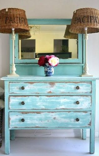 Beach Cottage ● Distressed Dresser Love. Doing a different kind dresser today. @Cathy Seymour if you're interested. :)