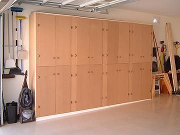 DIY ~~ Garage Cabinets. Or possibly for craft room. Would be kinda fun to paint and decorate.