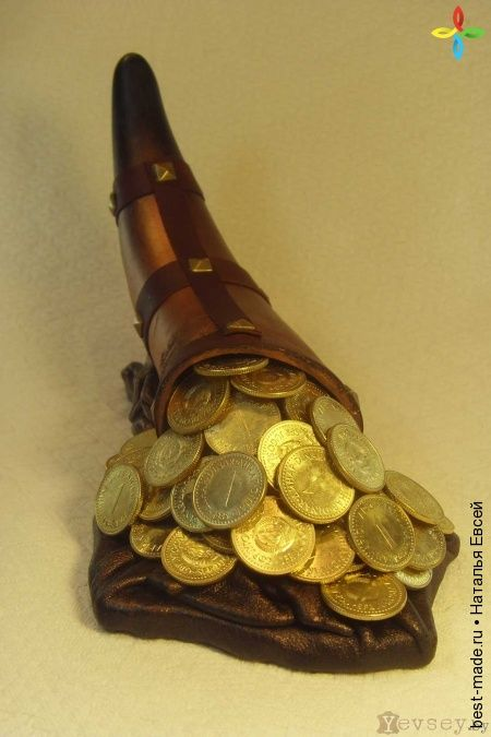 Рог изобилия, Натуральная кожа, Рог КОРОВЫ | Bestmade - изделия ручной работы