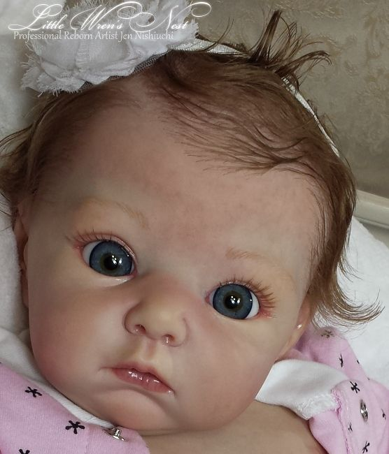 """Beautiful Reborn Baby Girl Doll """"Lola"""" Adrie Stoete Limited Edition"""