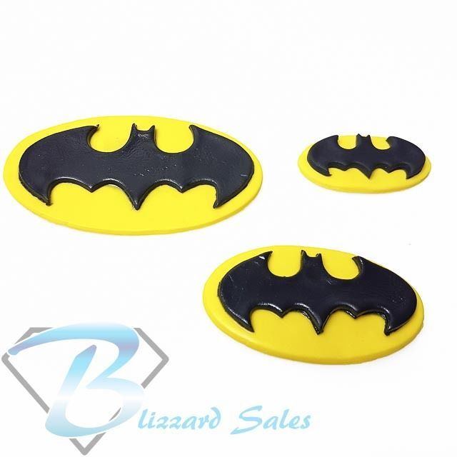 Batman Logo Edible Fondant Icing Cake Topper Birthday Cake Decoration #BlizzardToppers #Birthday