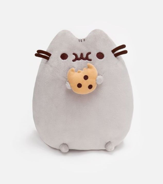 Pusheen loves snacking! Based on the sensational web comic, Pusheen is munching on a cookie. Pusheen The Cat With Cookie Plush Toy Gund. New and Unopened. | eBay!