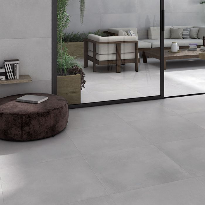 Energy Light Grey Xl Concrete Effect Floor Tile In 2020 Large