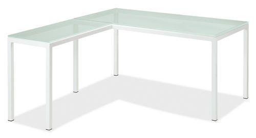 Pratt L Shaped Desks Room Amp Board Frosted Glass 60x30