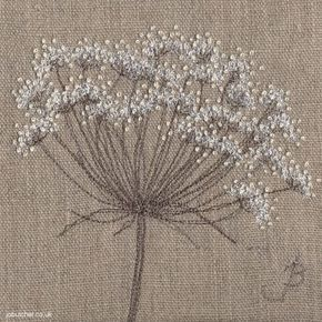Cow Parsley on Linen I: