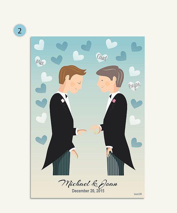 gay couplesgay wedding giftPRINTABLEgay by Ilustracionymas on Etsy