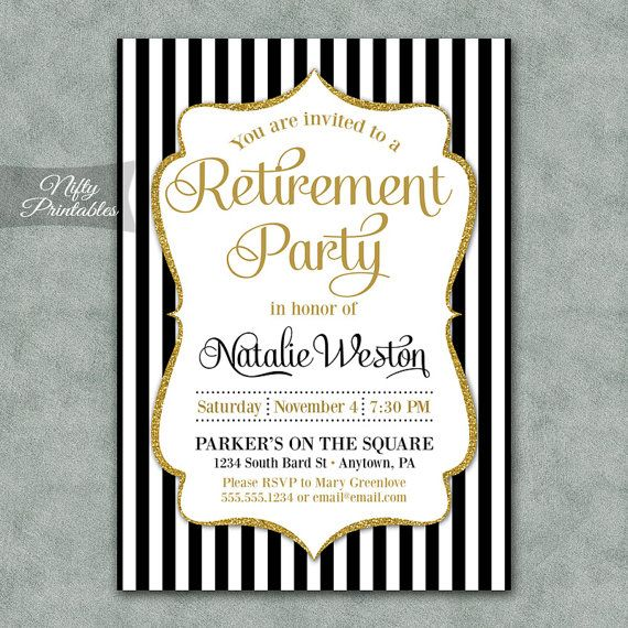 Hey, I found this really awesome Etsy listing at https://www.etsy.com/listing/196706818/retirement-party-invitations-printable