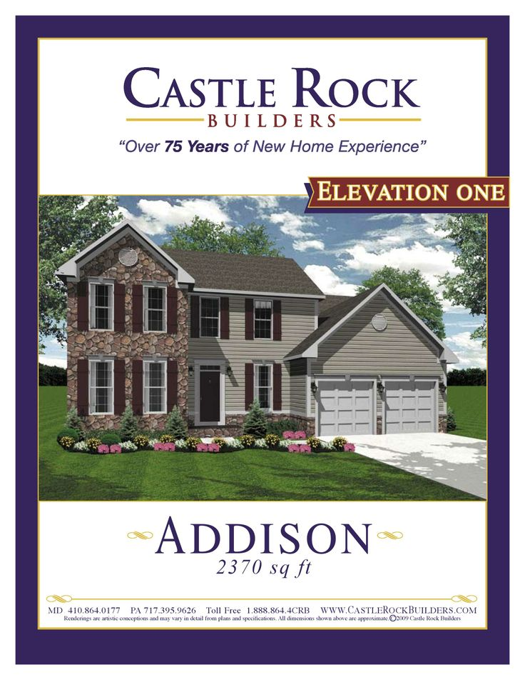 Castle Rock Builders Can Build The Addison Model On Your