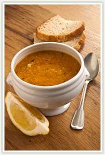 Recepten uit De Turkse Keuken: Mercimek Corbasi-Rode linzensoep