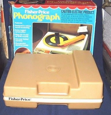 Vintage Working 1978 Fisher-price Childs Phonograph W/original Box