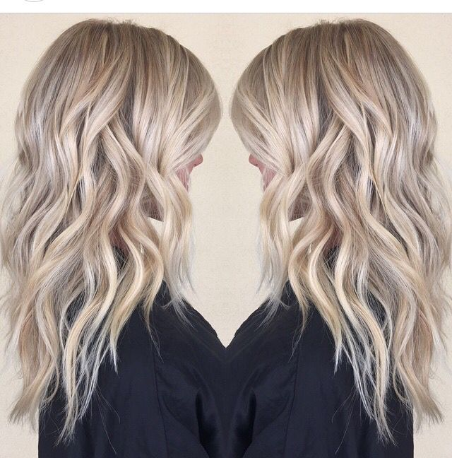 Summer blonde hair