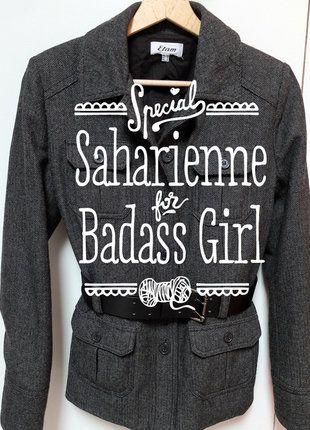 À vendre sur #vintedfrance ! http://www.vinted.fr/mode-femmes/autres-manteaux-and-vestes/29219489-saharienne-a-chevrons-noirs-et-gris-etam