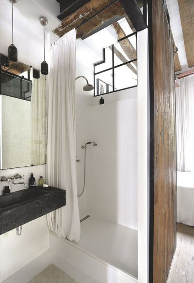 24 best images about bathroom style industrial chic on pinterest industrial bathroom - Salle de bain industrielle ...