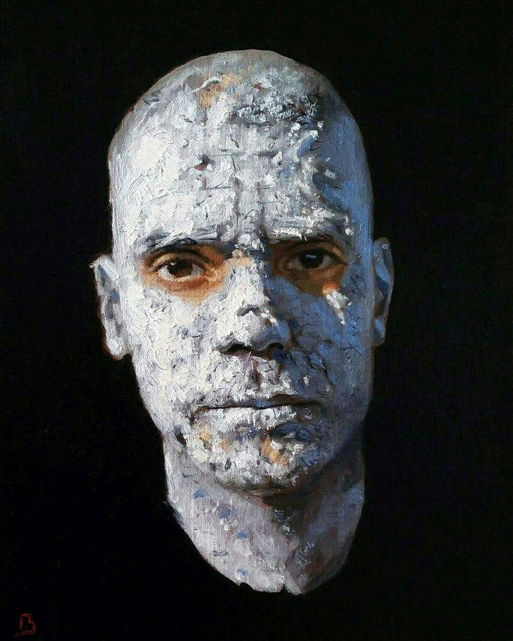Self Death Mask. Oil