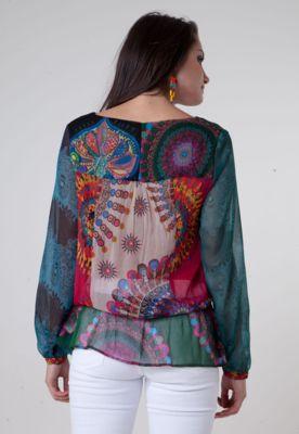 Blusa Desigual Alexa Multicolorida