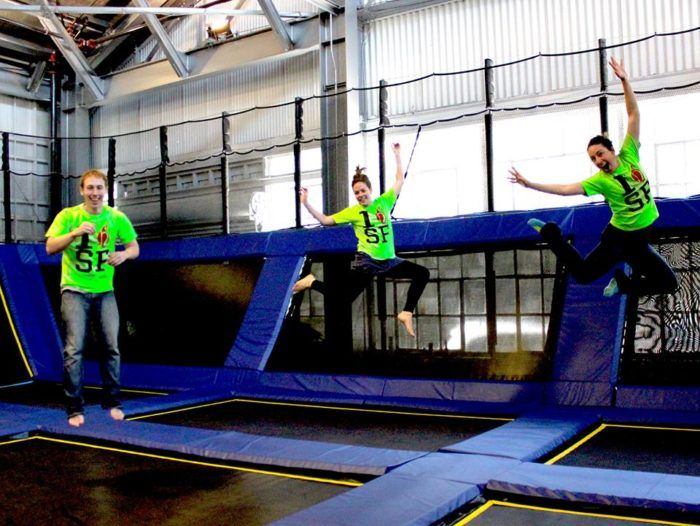 The Most Epic Indoor Playground In San Francisco Will Bring Out The Kid In Everyone Backyard Trampoline Indoor Playground Trampoline