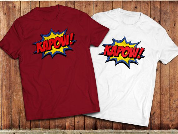 kapow T-Shirt, retro Comic book, batman tv series, superhero, Classic TV, vintage TV series