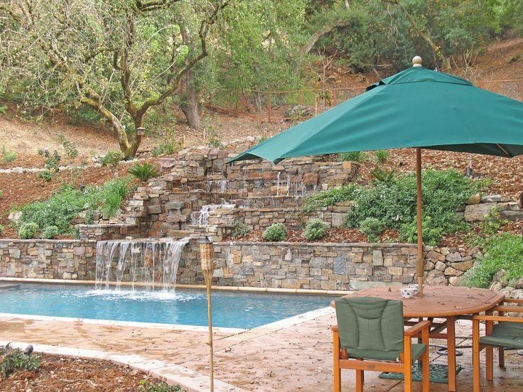 Pool w/hillside