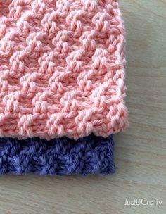 Novo Padrão Livre - Texturizado Knit Dishcloth Pattern - por
