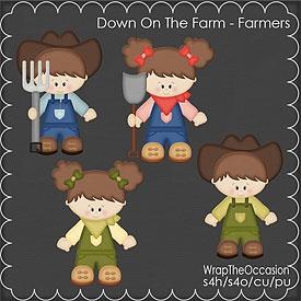 CU - Farmers (Brunette) Clipart