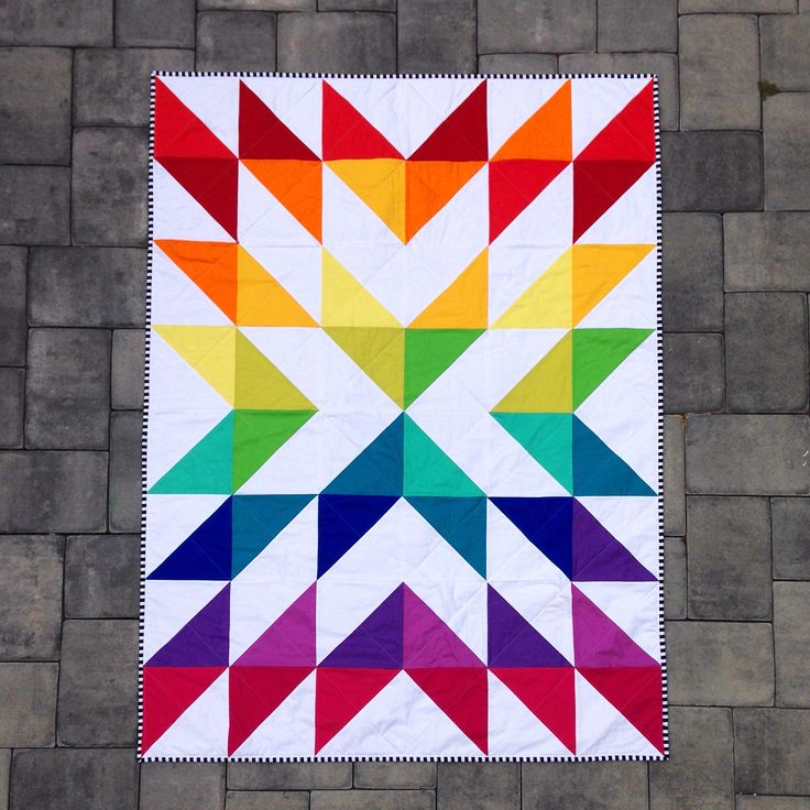 Modern Rainbow Quilt from Morb Design