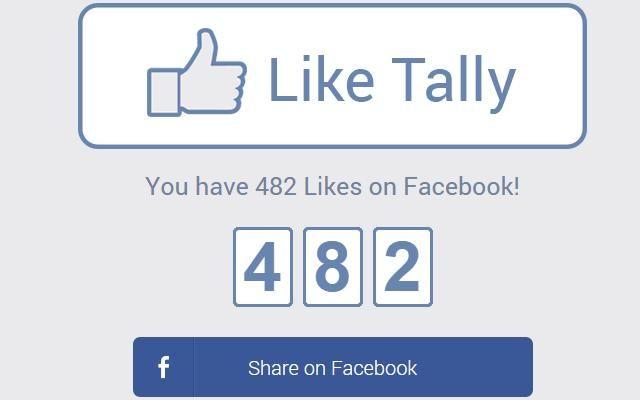 """Like Tally es un sitio que se ocupa de calcular con exactitud todos los """"Me gusta"""" que hemos recibido en nuestro perfil de Facebook desde su creación."""