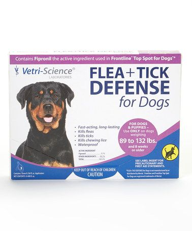 This Flea & Tick Defense for Dogs & Puppies 89-132 Lbs. by 21st Century is perfect! #zulilyfinds