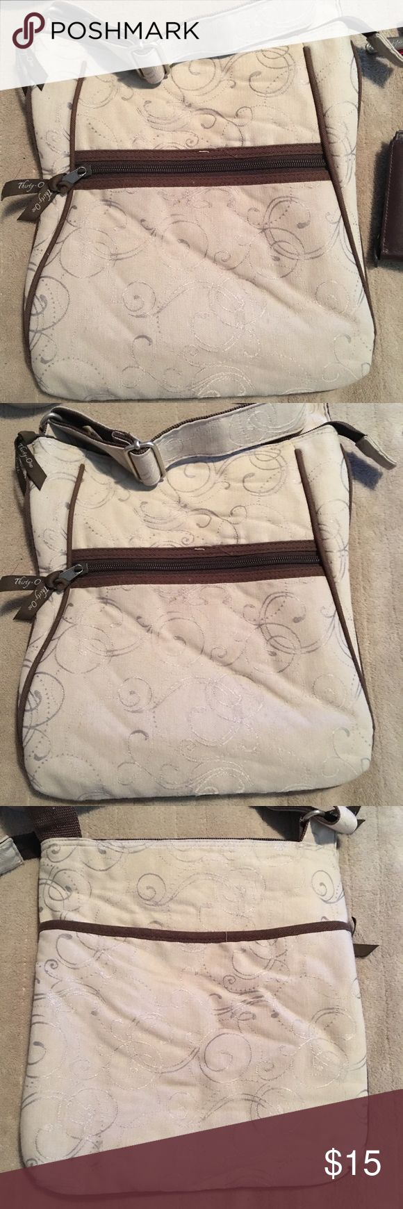 Thirty one crossbody bag Thirty one crossbody bag in beige/tan color. thirty one Bags Crossbody Bags