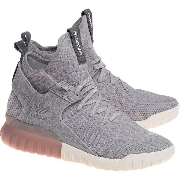 ADIDAS ORIGINALS Tubular X PK Granit // High sneakers ($165) ❤ liked on Polyvore featuring men's fashion, men's shoes, men's sneakers, mens white shoes and mens white sneakers