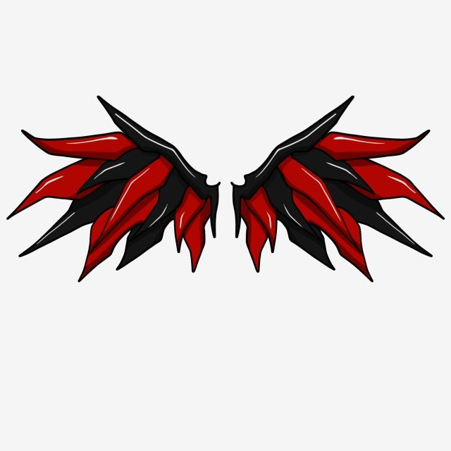 Devils Wings Illustrator Cartoon Illustration Hand Drawn Wings Illustration Black Wings Wing Clipart Red Wings Creative Wings Png Transparent Clipart Image A Wings Wallpaper Wings Drawing How To Draw Hands