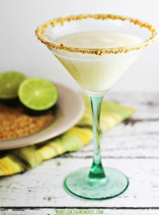 Why, yes, you can have your key lime pie in a martini glass.