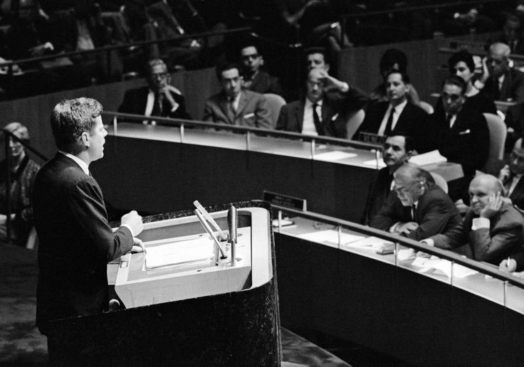 1961. 25 Septembre. JFK Addressing the UN General Assembly - John F. Kennedy Presidential Library & Museum