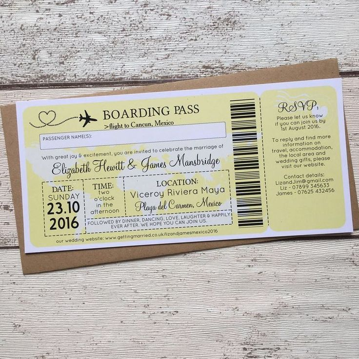 funny wedding invitation rsvp goes viral%0A Boarding Pass Travel Themed Wedding Invitation