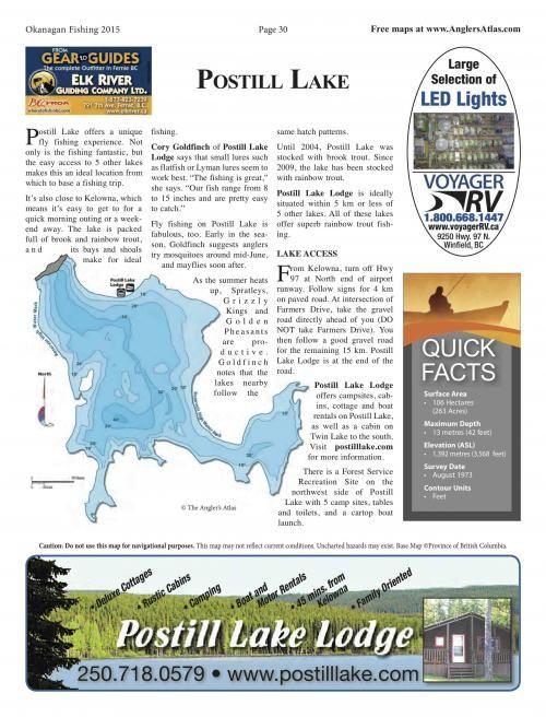 Photo thumbnail: Lake of the Day July 8: Postill Lake, BC