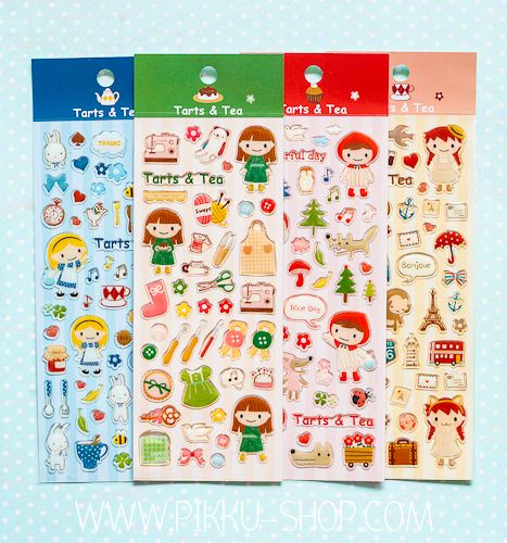 Tarts & Tea Stickers from Pikku Shop | www.pikku-shop.com | #kawaii #stickers #cute
