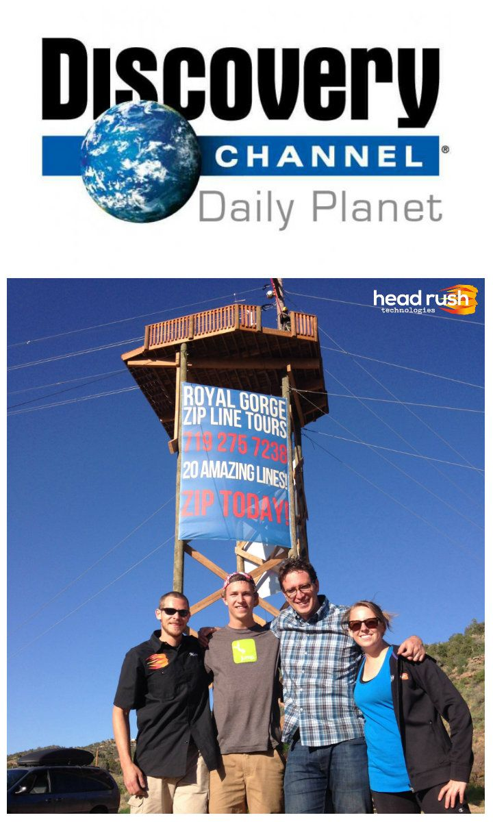 FREE FALL FRIDAY! Will Daily Planet host Dan Riskin jump from this 20-meter high free fall tower? Watch Daily Planet TONIGHT from 7-8PM ET tonight on Discovery Canada!   http://www.discovery.ca/Schedule  On Monday, we'll post the link to the episode so everyone can watch!   #DailyPlanet #DiscoveryChannel #Freefalling #HeadRushTech #QUICKjump