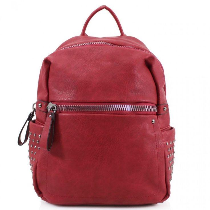 Girls Side Studded Beautiful Backpacks Rucksacks School Gym Women Shoulder Bags #Clicktostyle #Backpack