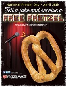 your free pretzel national