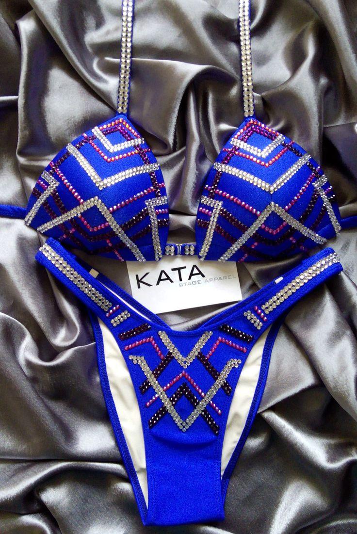 KATA Stage Apparel — RHEA Figure/Physique competition suit Blue