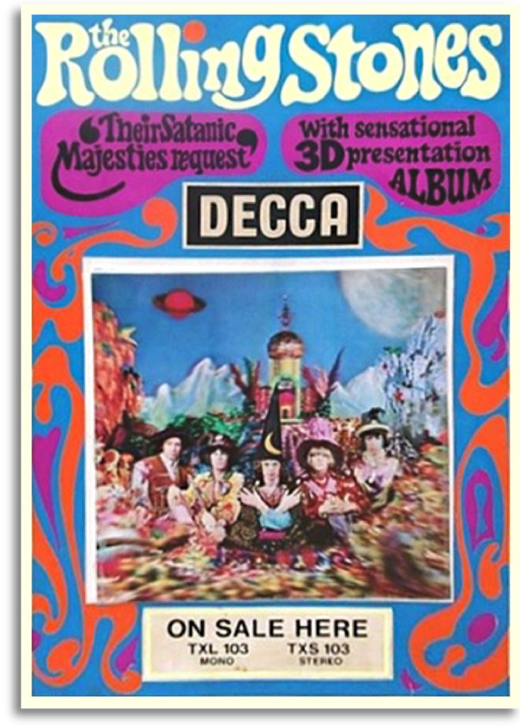 The Rolling Stones / Their Satanic Majesties Request, DECCA PROMO 1967 I don't care- this is one of my favourites by them. <3