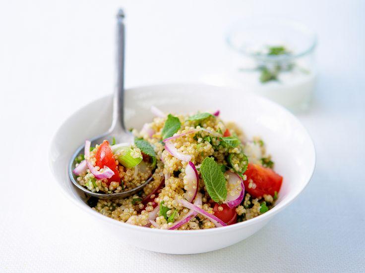Voir la recette du quinoa et ses petits légumes