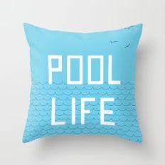 Pool Life Summer Throw Pillow