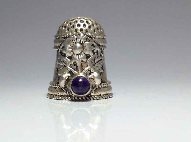 Flower Thimble Silver Rare Collectible / Oct 29, 2014 / GBP 9.99